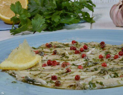 Acciughe (alici) marinate alla siciliana