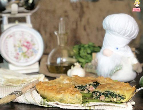 Torta salata rustica SALSICCIA e SPINACI