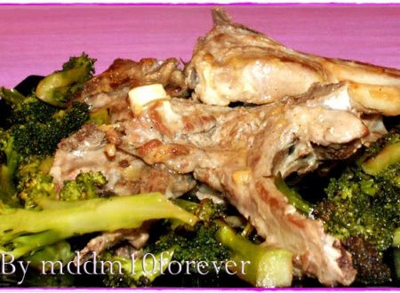 COSTOLETTE D'AGNELLO CON BROCCOLI