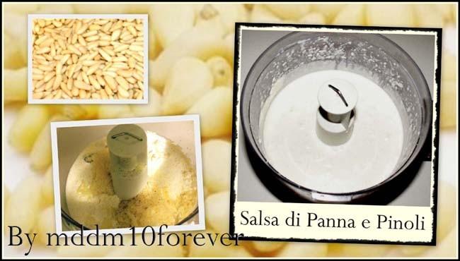 SALSA DI PANNA E PINOLI