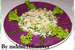 RISOTTO LIGHT CON TONNO E INSALATA