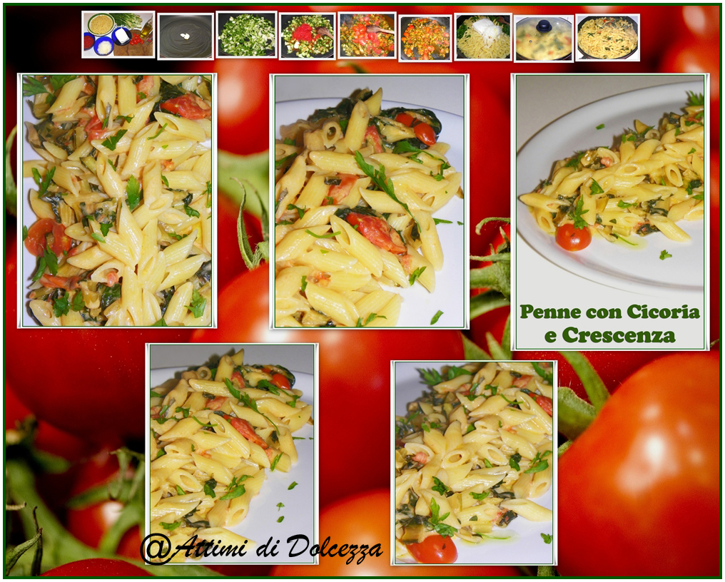 PENNE CON CICORIA E CRESCENZA copia