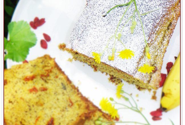 PLUM CAKE ALLA BANANA E BACCHE DI GOJI
