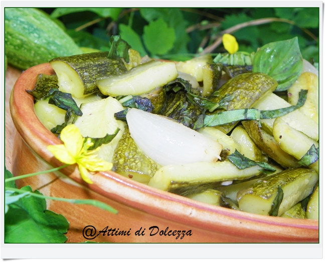 ZUCCHINE IN AGRODOLCE IN PADELLA 27-08-15