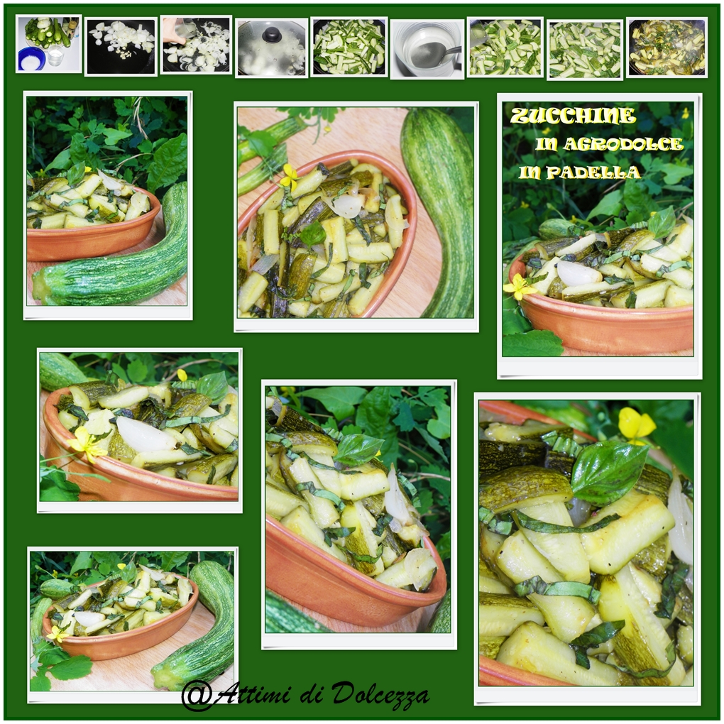 ZUCCHINE IN AGRODOLCE IN PADELLA