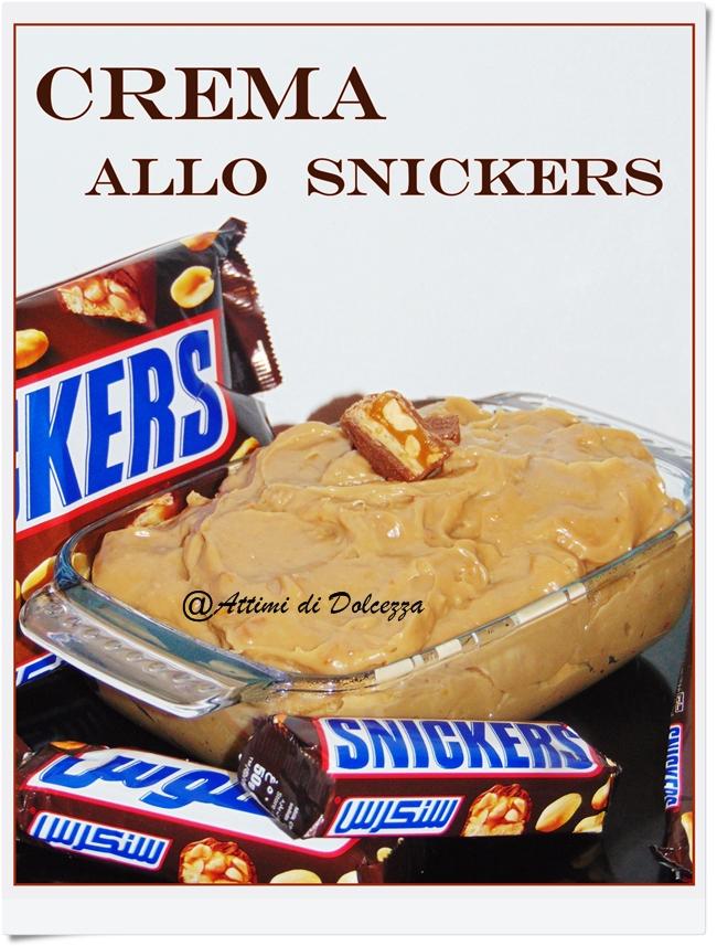 snickers crema  CREMA ALLO SNICKERS | Attimi di Dolcezza