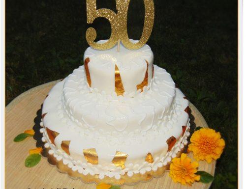 TORTA 50 ANNI DI MATRIMONIO