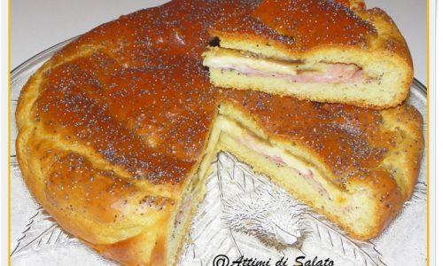 TORTA SALATA SOFFICE CON MELANZANE E PROSCIUTTO