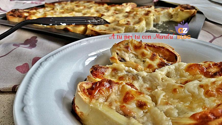 Girelle alla Comasia pasta al forno funghi prosciutto besciamella