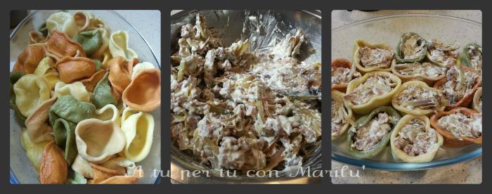 Orecchiotte carciofi e salsiccia