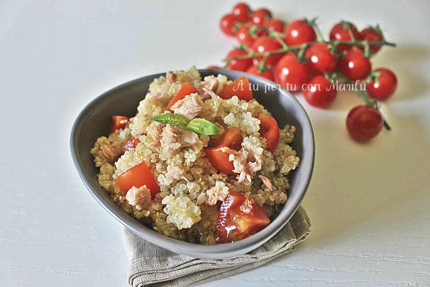 Insalata di quinoa insalata fredda ricetta estiva veloce e facile