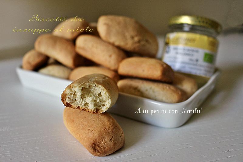 Biscotti da inzuppo al miele