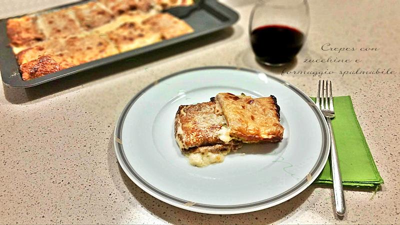 Ricetta crepes con zucchine e formaggio spalmabile