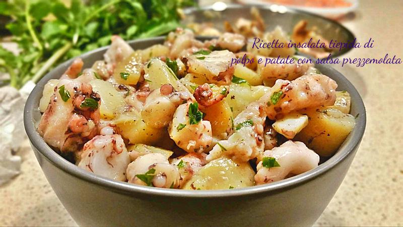 Ricetta insalata tiepida di polpo e patate con salsa prezzemolata