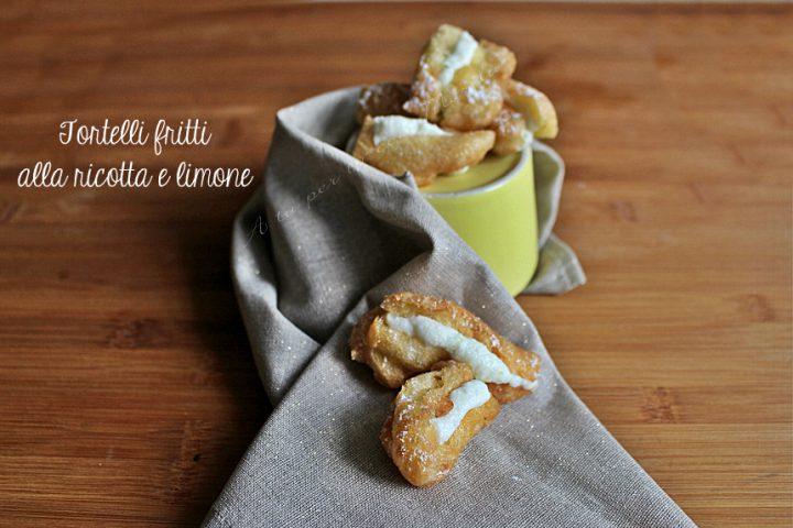 I tortelli alla ricotta di Iginio Massari fritti con limone | A tu per tu con Marilù