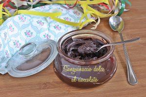 Sanguinaccio al cioccolato ricetta di carnevale