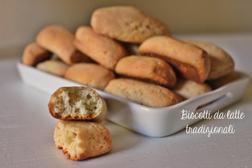 Biscotti da latte tradizionali senza lattosio - biscotti da inzuppo della nonna per colazione