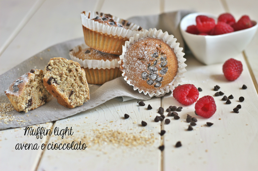 Muffin bimby avena e cioccolato - ricette da colazione - A tu per tu con Marilù