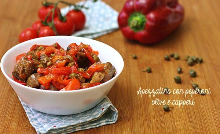 Spezzatino di vitello con peperoni capperi e olive