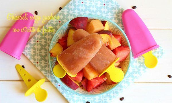 Ghiaccioli senza zucchero con estratto di frutta
