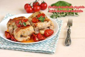 Involtini di maiale alla pizzaiola ripieni di spinaci