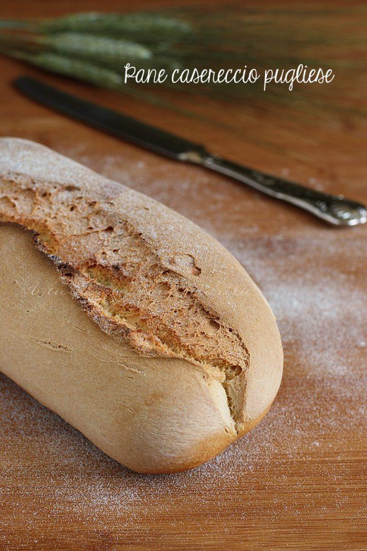 Ricetta del pane casereccio pugliese - pane pugliese facile con alveoli