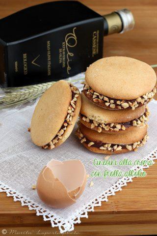 Biscotti frolla all'olio e crema cioccolato e arancia