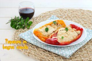 Peperoni al forno alla bagna cauda - contorni con le verdure - di Milena