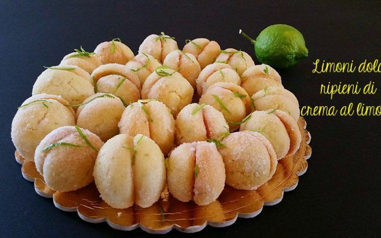 Limoni dolci ripieni di crema al limone