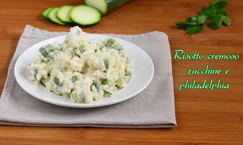 Risotto zucchine e philadelphia light e cremoso