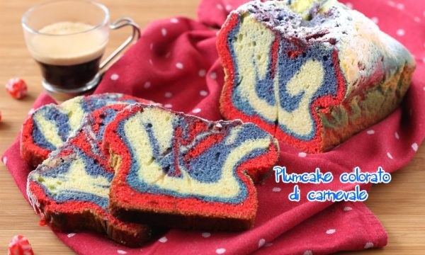 Plumcake colorato di carnevale