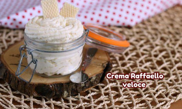 Crema Raffaello veloce con cocco mandorle e mascarpone