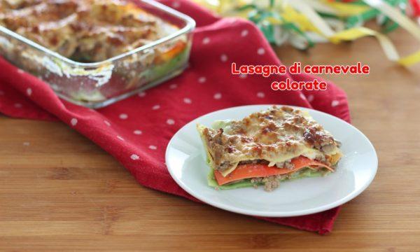 Lasagne di carnevale colorate