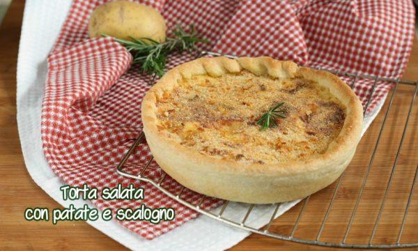 Torta salata con patate e cipolla