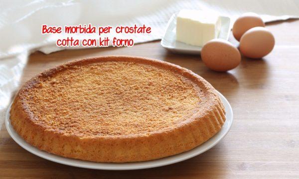 Base morbida per crostate cotta con kit forno