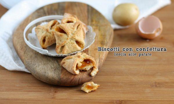 Biscotti con confettura – frolla alle patate