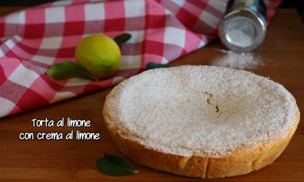 Torta al limone con crema al limone