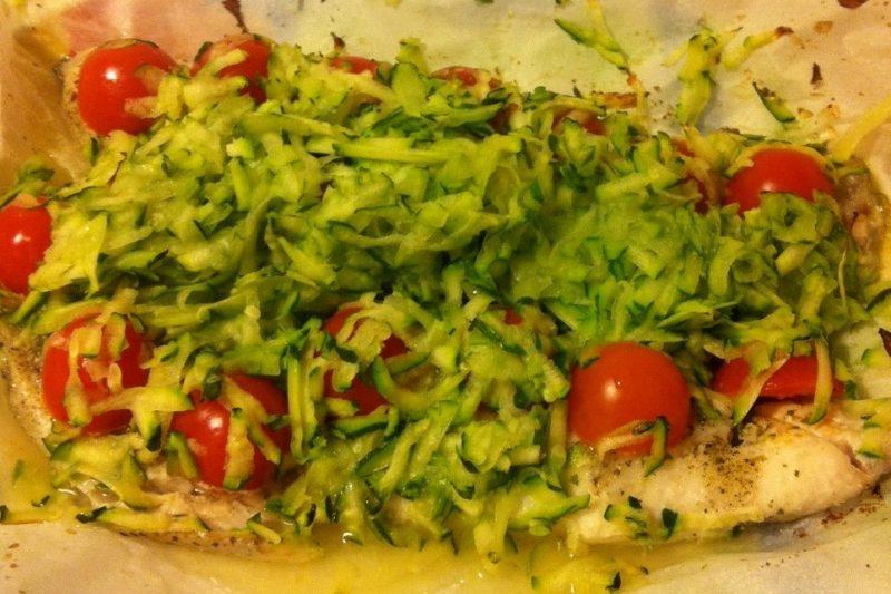 Filetti di spigola al cartoccio (ricetta light)