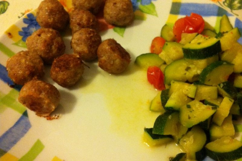 "Polpette Dukan e zucchine ""saltate"" (ricetta light)"