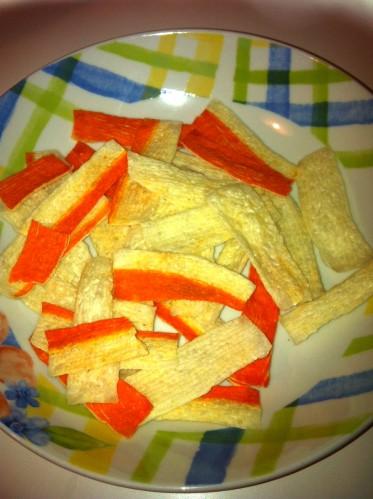 Chips di surimi