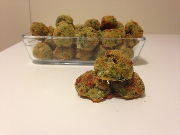 polpette con spinaci