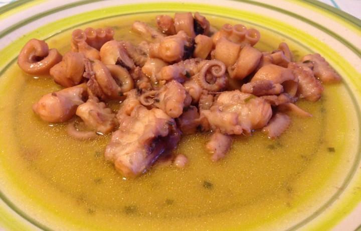 Moscardini in guazzetto (ricetta secondo piatto)