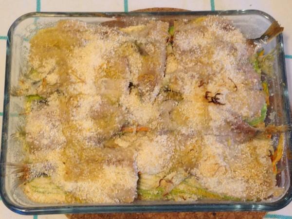 tortino di fiori di zucchina e alici