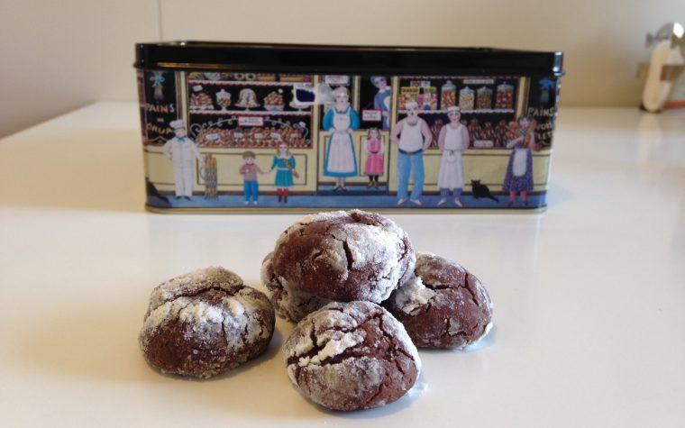 Chocolate crinkle cookies (ricetta americana)