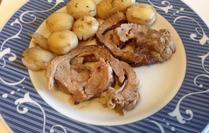 Arrosto con patate novelle (ricetta secondo piatto)
