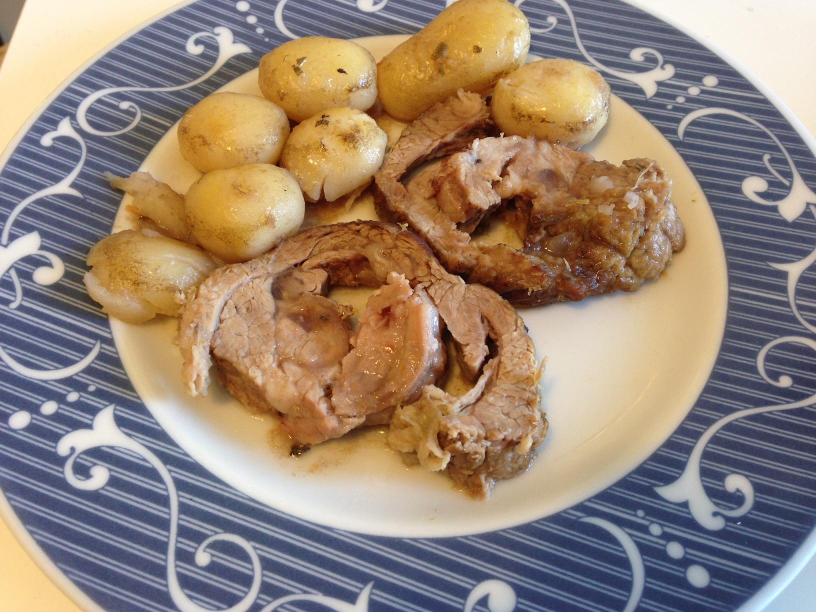 arrosto con patate novelle
