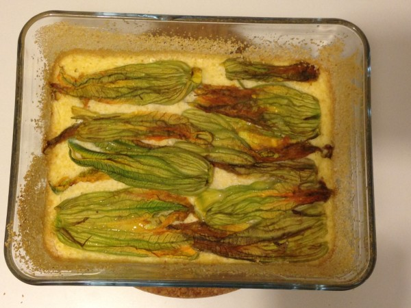 frittata con fiori di zucchina