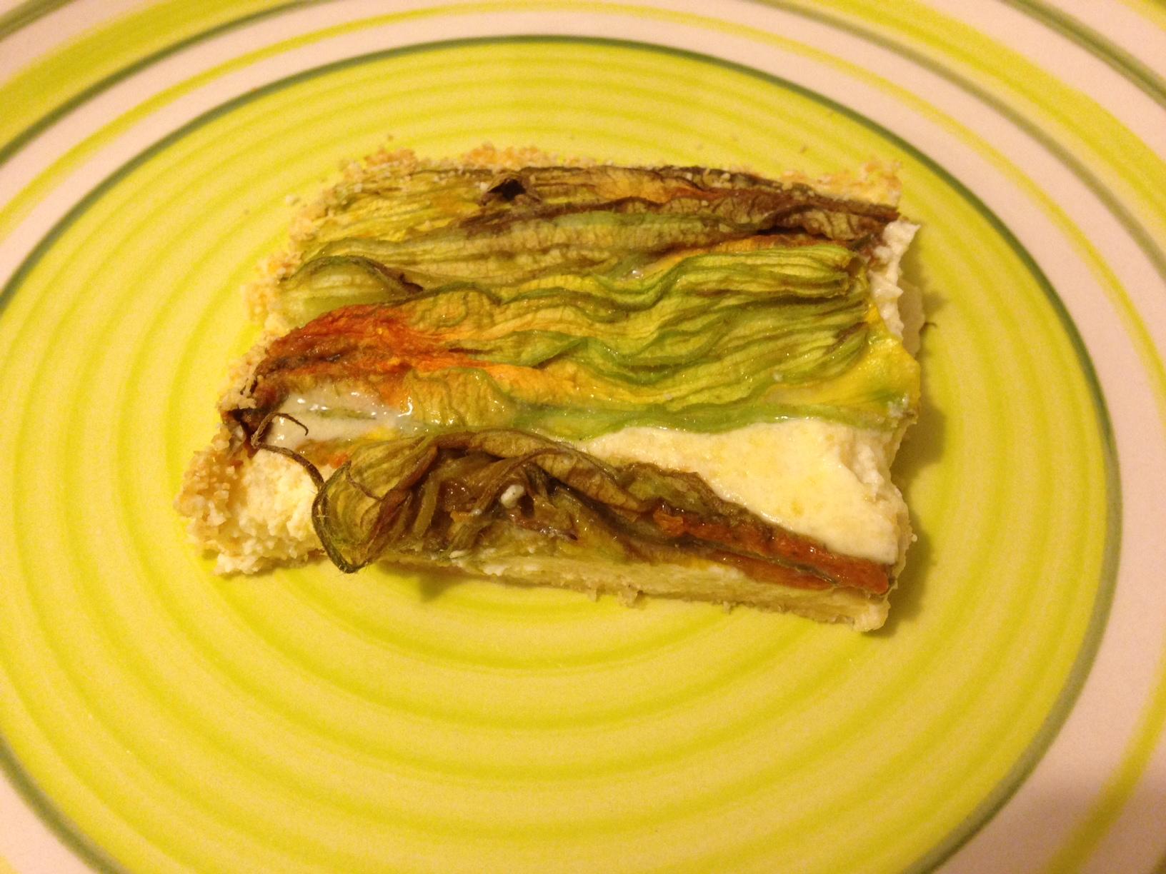 Frittata con i fiori di zucchina