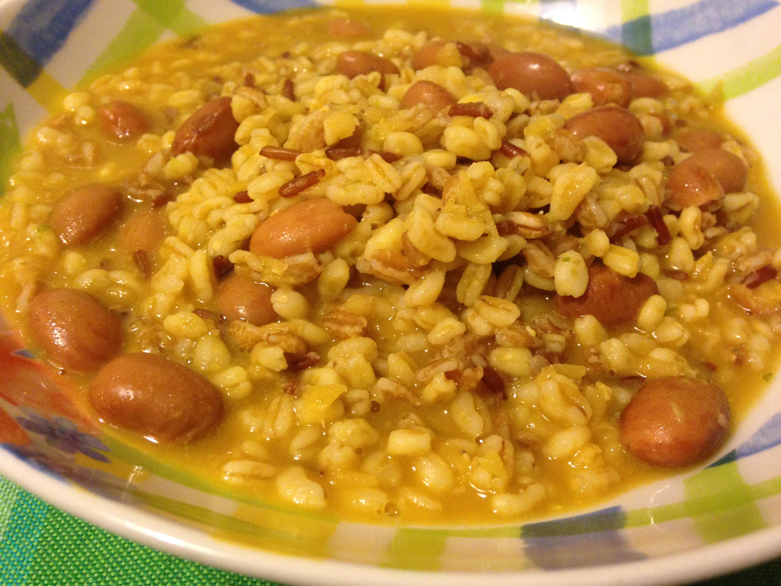 zuppa cereali e legumi