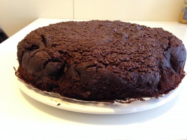 torta con farina di riso e cioccolato